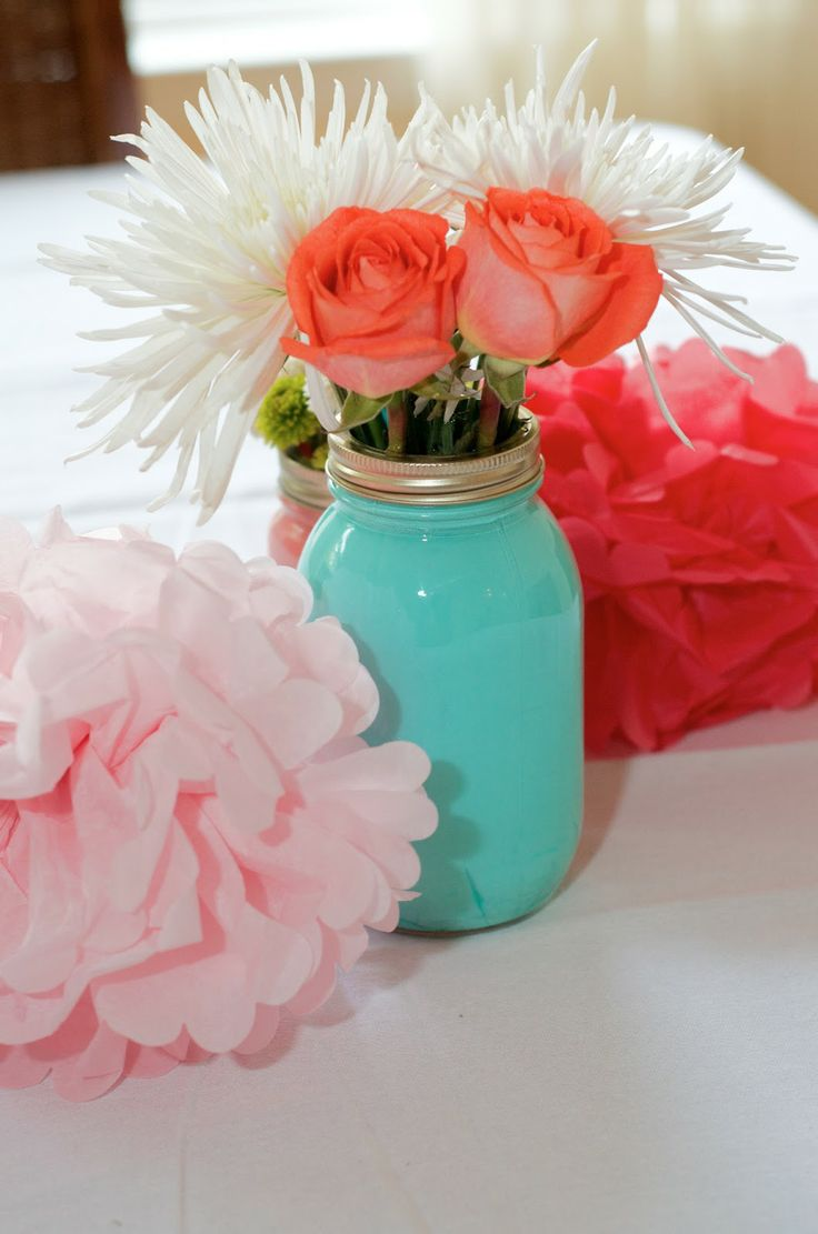 coral and teal baby shower - Google Search