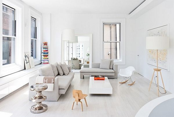 Stunning contemporary, minimal living room in New York - Decoist