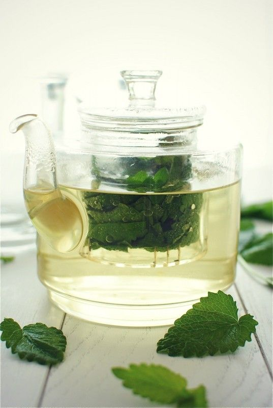 lemon balm tea! Insane! <3