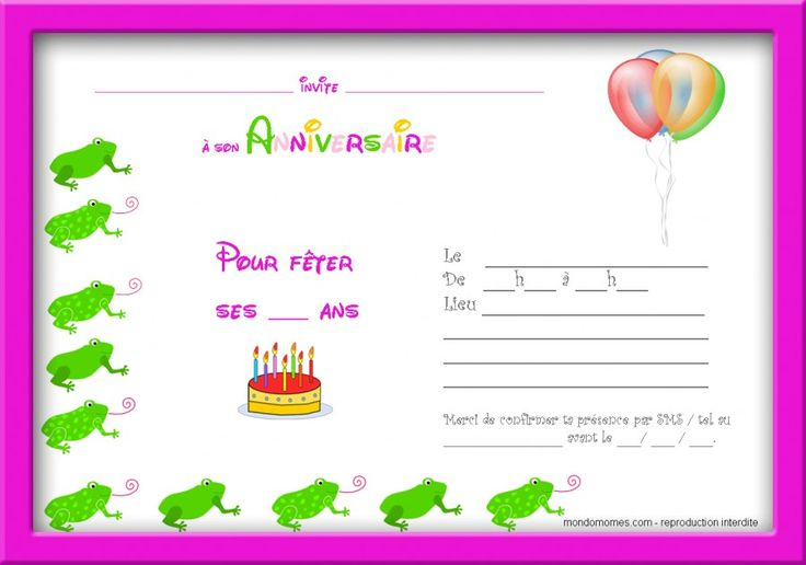 invitation anniversaire gratuite a imprimer dragon carte. Black Bedroom Furniture Sets. Home Design Ideas