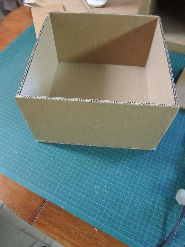 Tutoriel en image pour réaliser un tiroir en carton
