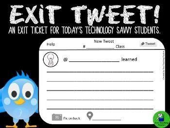 Exit Ticket: Exit Tweet for all Subjects