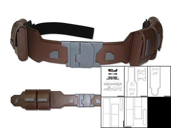 This is the template for the Captain America Winter Soldier Utility Belt. The template is a PDF file that will be downloaded upon purchase. The