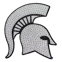 Michigan State Spartans Bling Auto Emblem