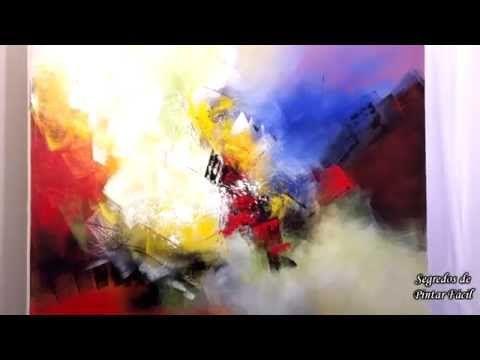 video aula - passo a passo (segredos da pintura espatulada) Cido Oliveira - YouTube