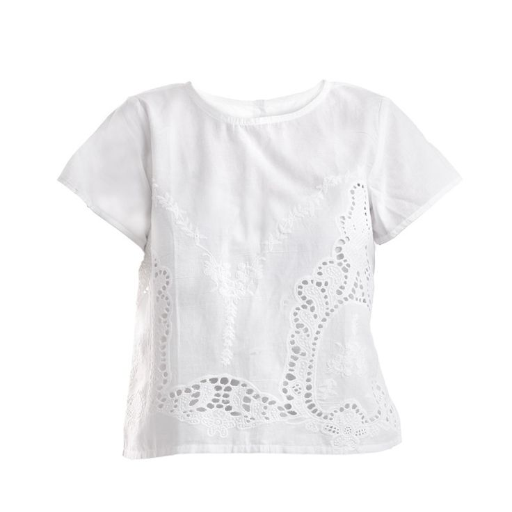 BLOUSE IN WHITE COLOR - Blouses-Shirts - Clothes
