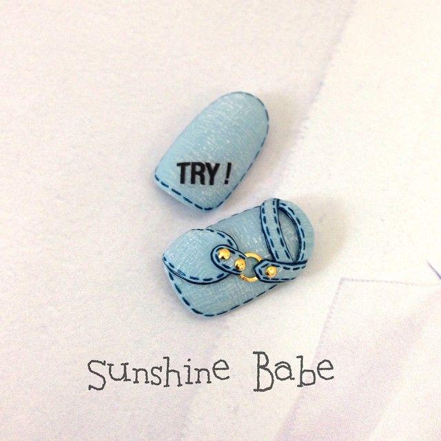 いいね!414件、コメント7件 ― 武本小夜さん(@sayotakemoto)のInstagramアカウント: 「#denimnail Sweet Sunshine gel SC17. ST6. ST44. ST51 Nail Sticker English love black #SunshineBabe…」