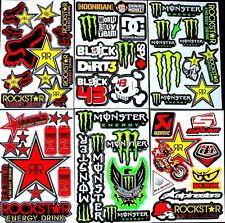 6 fantastic sheets Xtt motocrosss stickers mx energy drink bike SCOOTER bmx RC