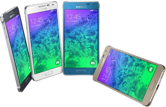 Samsung Galaxy Alpha G850F    • neues Smartphone mit edlem Metallrahmen • 4,7 Zoll Display • Betriebssystem Google Android KitKat • 12-Megapixel-Hauptkamera • Octa-Core-Prozessor Exynos 5430 • nur 6,7 mm und 114,3 g