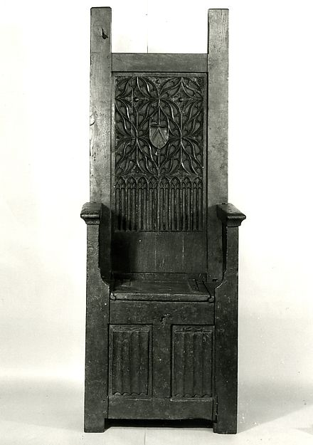 High Backed Chair 15th C In 2019 Medieval Furniture
