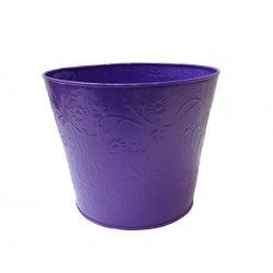 Planter with embossed floral design.  Visit www.tnzcreations.com for a wide range of planters!