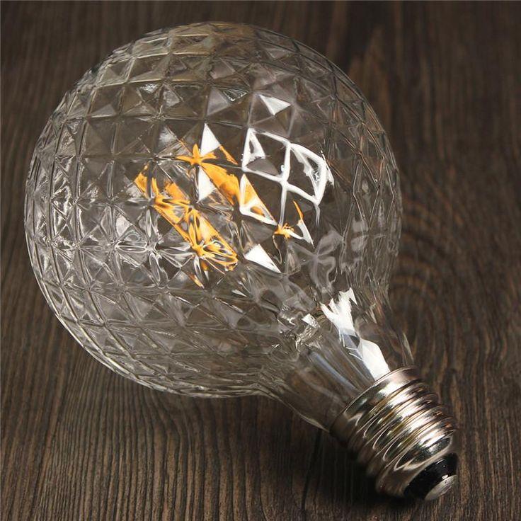 Edison Lamp Xenos Amazing E W Pineapple Vintage Antique Edison
