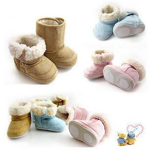 Baby Warm Winter Boots Shoes Fur Lining Boys Girl Snow 6-24 Month Infant Toddler