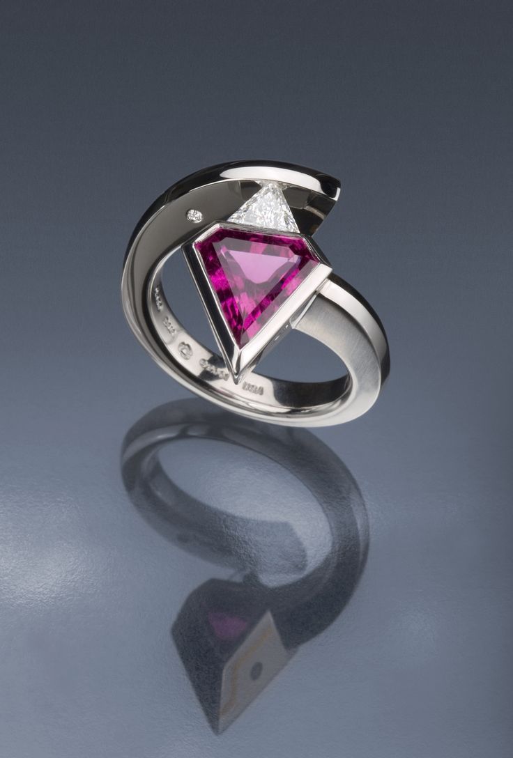 Steven Kretchmer's 2(stone) Gothic Superman Ring In Platinum, With A Half