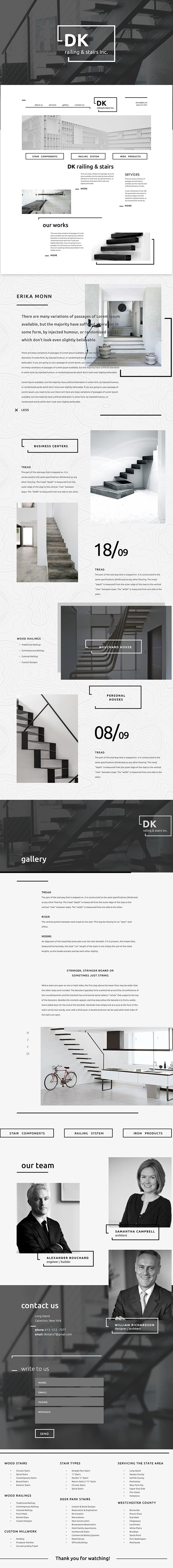 DK // railing & stairs Inc. on Behance