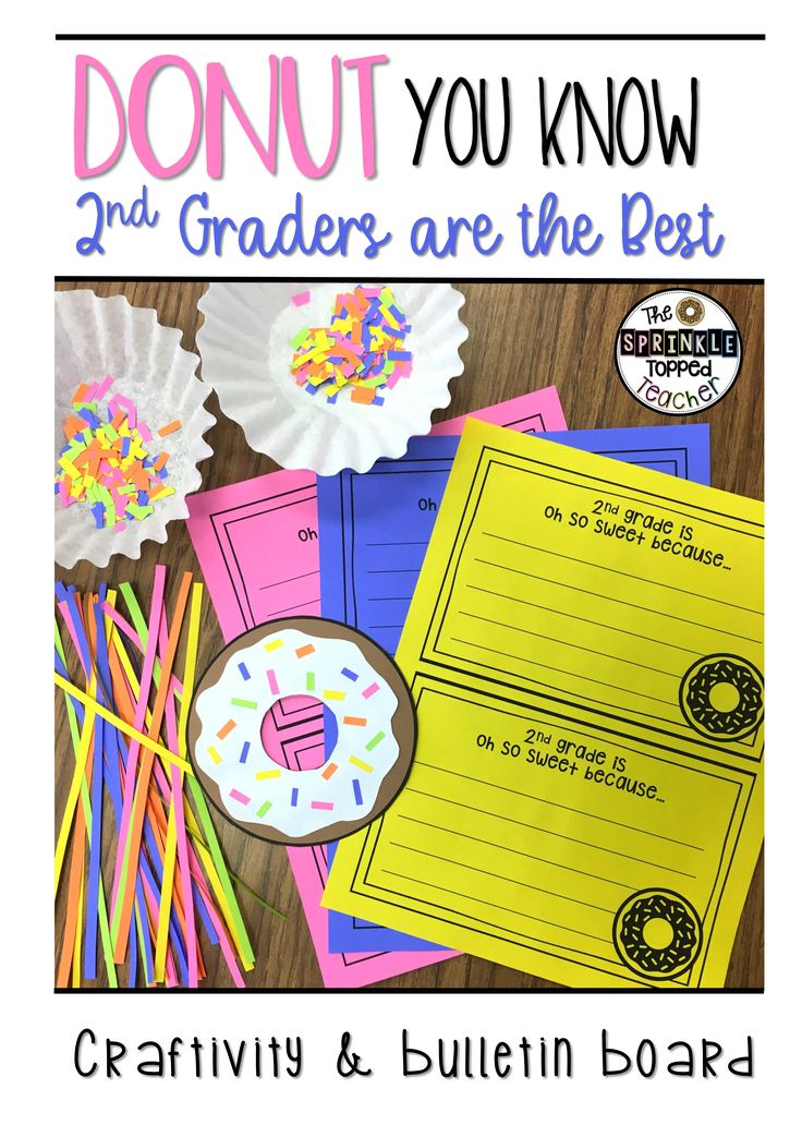 This donut themed bulletin board will be so cute with any grade level!