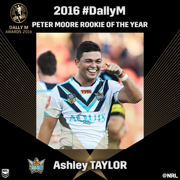 Ashley Taylor: Peter Moore Rookie of the Year #DallyM #NRL