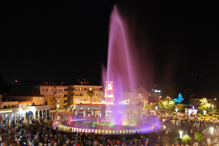 Marmaris Fountain Square Nighttime