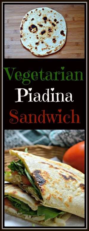 Vegetarian Piadina Sandwich #SundaySupper