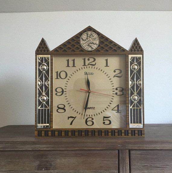 Vintage Tempus Fugit Wall/Mantle Clock; Steeple Clock; Mantle Clock; Quartz; Wall Clock; Tempus Fugit Clock; Vintage Clock; Working Clock #QuartzClock #TempusFugitClock #VintageQuartzClock #DearClock #MantleClock #TempusFugit #VintageMantleClock #VintageWallClock #VintageClock #SteepleClock