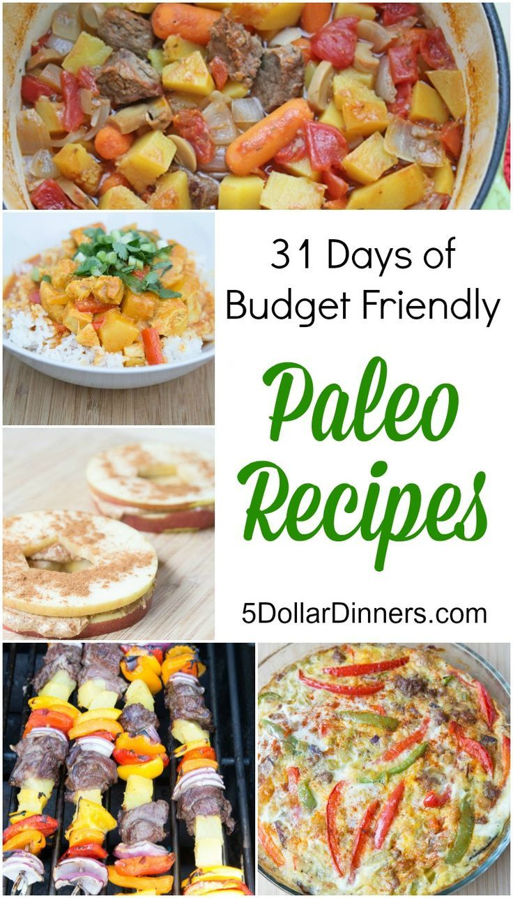 Follow along as we feature 31 Days of Budget Friendly Paleo Recipes for the entire month of May on http://5DollarDinners.com!