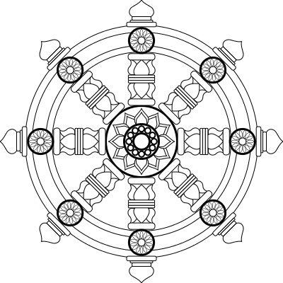 USAF Religion Pin 3 - Rueda del dharma - Wikipedia, la enciclopedia libre