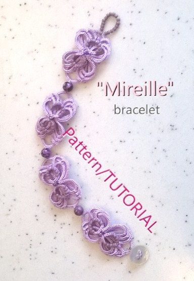 Mireille bracelet - Ankars Tatting PATTERN/TUTORIAL by AnaIuliaTattingLace on Etsy