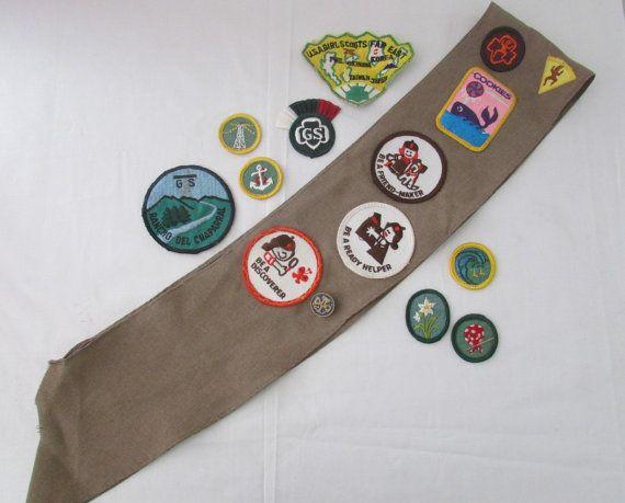 15-0903 Vintage Brownie Girl Scout Sash / Girl by CajunRabbit