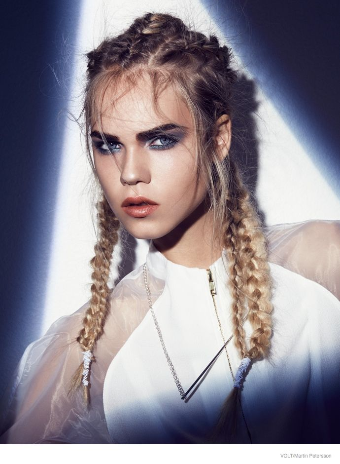 Line Brems Rocks Braided Hairstyles for Volt by Martin Petersson http://hello-sunrise-world.tumblr.com/LOVE
