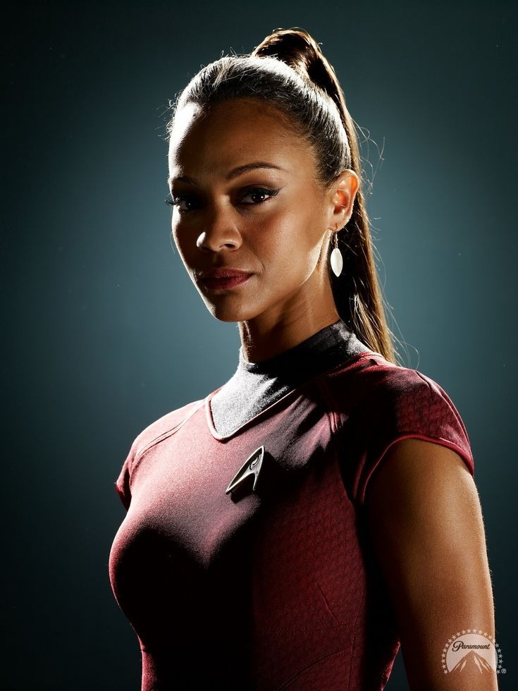 Uhura from Star Trek, is the communications officer. This is a woman in a very high title job. She is strong and can take care of herself. She is also very intelligent. She proves that women are just as smart and capable as men.