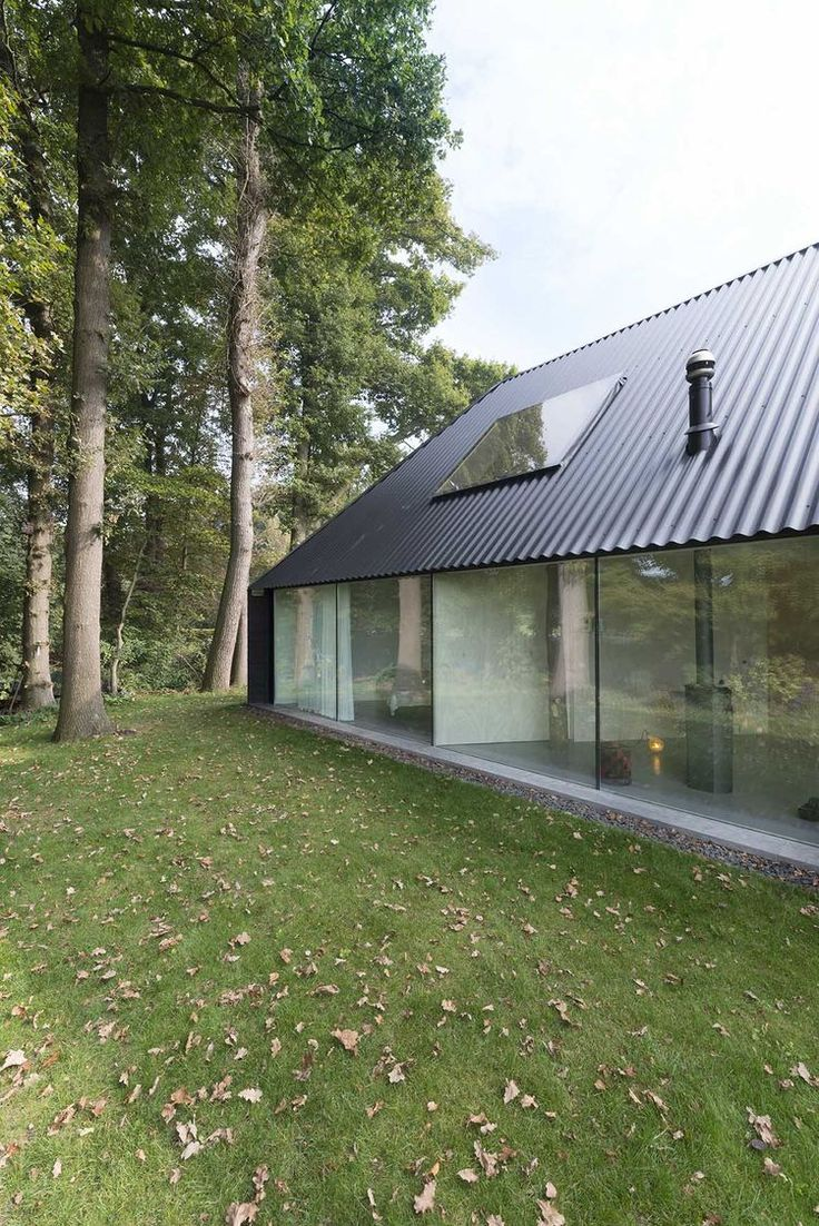Netherlands house with a sharp angled roof