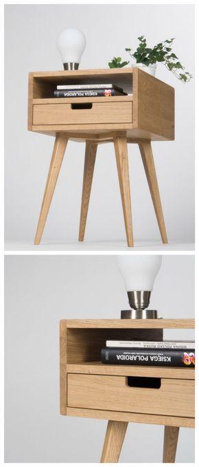 minimalistisch wohnen kleines nachtschrnkchen aus massivem holz in skandinavischem design scandinavian design small