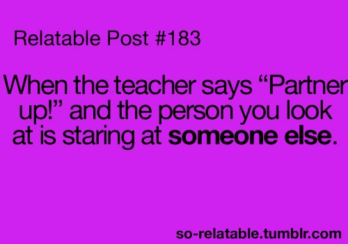 If I was a teacher I would always do the 'pairing up' in advance to help the kids avoid any awkward moments