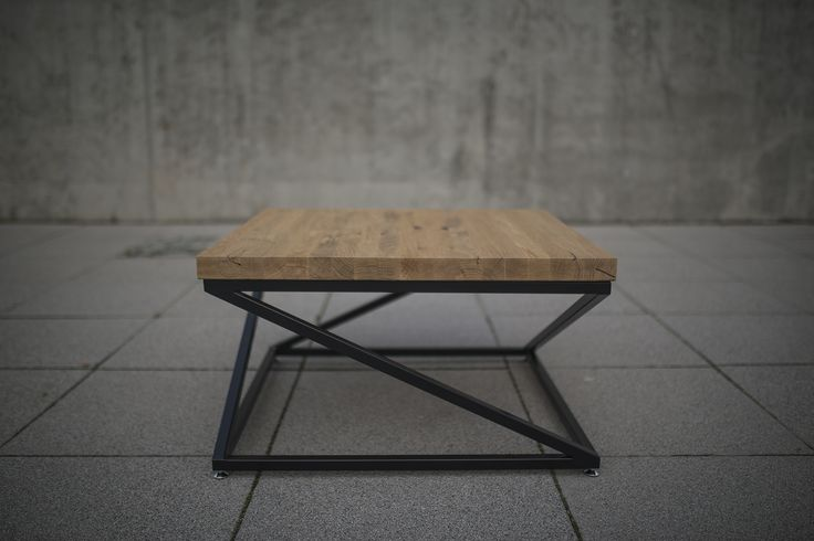 industrial coffee table. coffee table. oak table