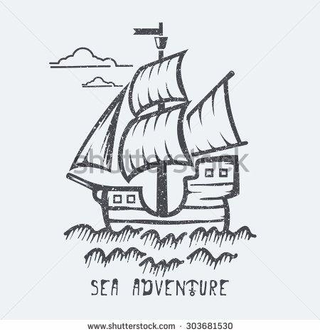 Sea adventure vector illustration - stock vector