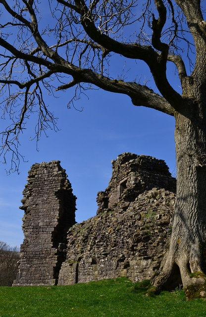 The sparse ruins of Pendragon Castle, perched on a grassy motte north of Outhgill. Legend has it that Uther Pendragon, father of King Arthur, died here when a well was poisoned ~ Cumbria, England