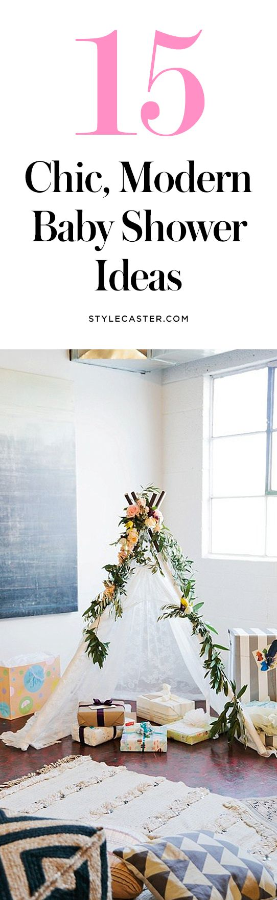 15 Chic & Sophisticated Baby Shower Ideas | Non-cutesy decoration and party ideas