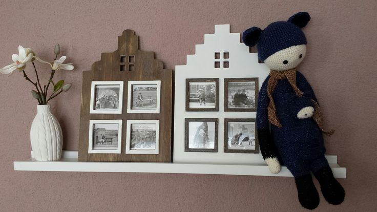 Zwart wit foto's in huisjes