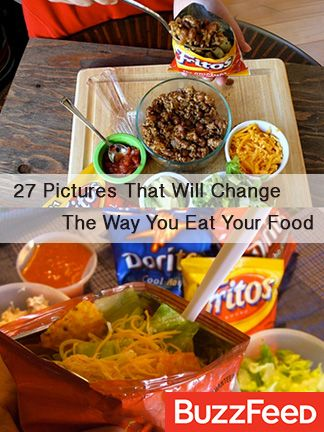 """Taco on the go? See all """"27 Pictures That Will Change The Way You Eat Food"""" on BuzzFeed!"""