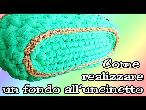 BASE OVALE IN FETTUCCIA PER BORSE - OVAL BASE for CROCHET BAG ⚫ Katy Handmade - YouTube