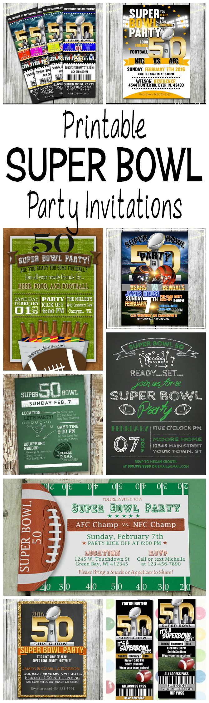 Best 25 Football party invitations ideas – Super Bowl Party Invite