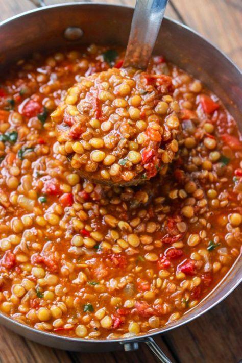 Vegetarisches Linsen-Chili | Pasta | Rezepte, Günstige ...