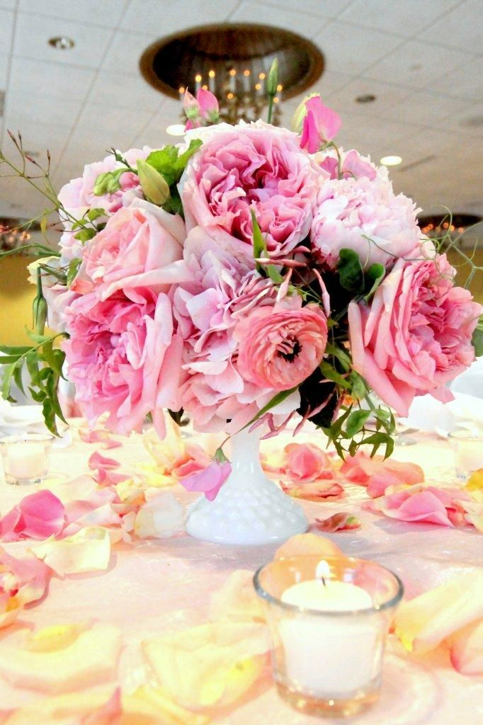 if i had $1,000,000: Centerpieces Ideas, Beautiful Bloom, English Cottages, Cottages Chic, Pink Centerpieces, English Gardens, Baby Shower Planners, Beautiful Pink, Pink Rose