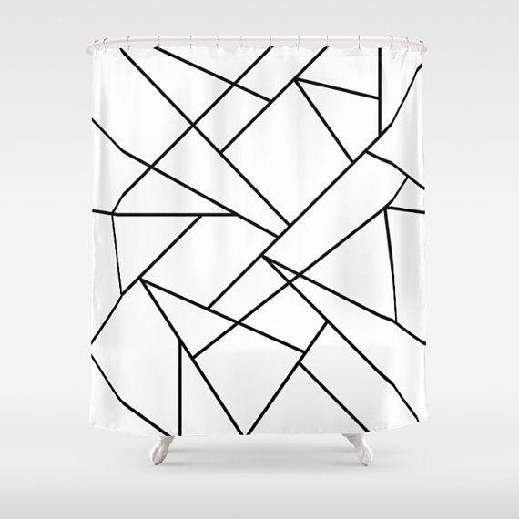 36 colours Geometric Lines Shower Curtain Modern