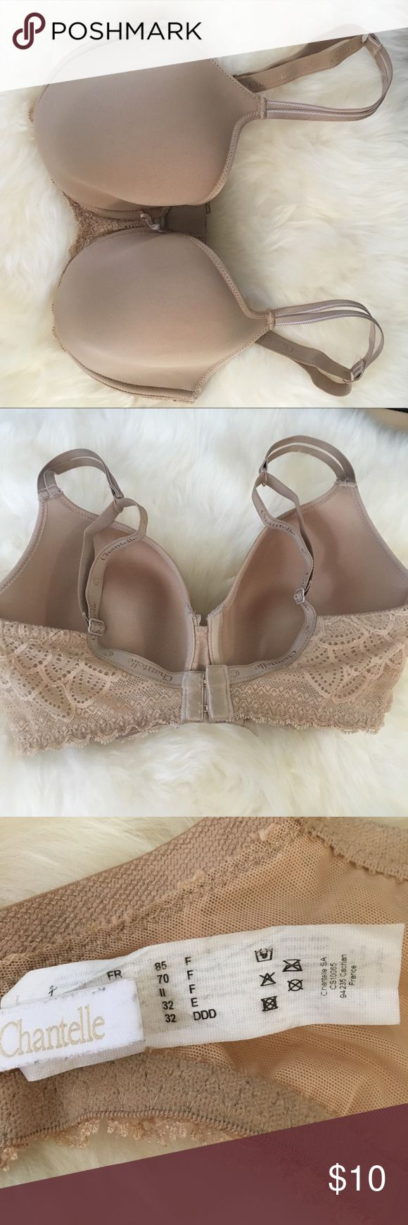 Chantelle bra Chantelle bra size 32 ddd.  Worn once but it is to shallow for me.  Hand washed in woolite and laid flat to dry.  It is the merci t shirt bra from this line. Chantelle Intimates & Sleepwear Bras