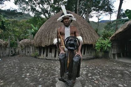 Mumie Jiwika Baliemské údolí Papua. Doba kamenná
