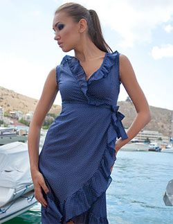 выкройка летнего платья с воланами