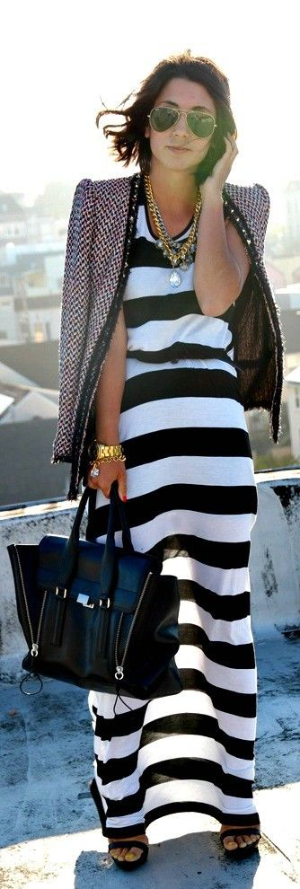 I actually have this outfit!!!  The dress, shades, purse and jacket...similar for sure, not the brand as in the picture...very on point!