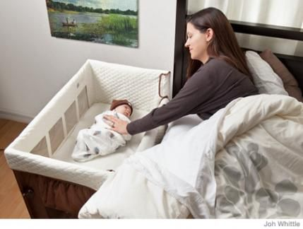 A multipurpose wonder, the Bloom Alma Urban Cot/Crib works for infants up to 24 months as a permanent sleep solution, bassinet or portable crib. Available in five chic colors (coconut white, gala green, cappuccino, frost gray and harvest orange) and offering two mattress heights to accommodate your growing baby, it folds effortlessly for storage and requires no tools for assembly. And it's easy on the planet: made from sustainable wood and finished in low-VOC paint. ($400; amazon.com)