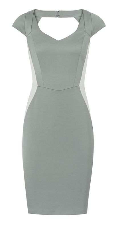 Silhouette Pencil Dress i do like gray and loving the cut out at the back